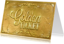Uitnodigingen - Golden ticket