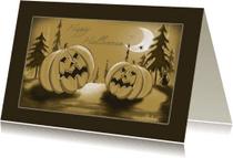Halloween kaarten - Halloween Sepia