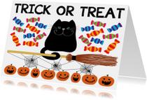 Halloween kaarten - Halloween trick or treat