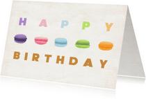 Verjaardagskaarten - Happy birthday Macarons2