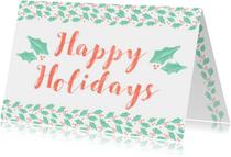 Kerstkaarten - Happy Holidays Typografisch