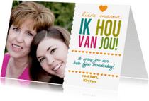 Moederdag kaarten - Happytime fotokaart met naam