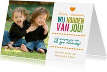 Moederdag kaarten - Happytime fotokaart met namen