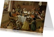 Kunstkaarten - Het vrolijke huisgezin Jan Steen