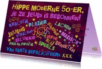 Verjaardagskaarten - Hippie 50 jaar IW