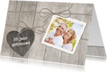 Jubileumkaarten - Houten Hart 1 foto