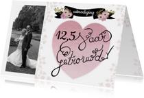 Jubileumkaarten - huwelijksjubileum getrouwd hart
