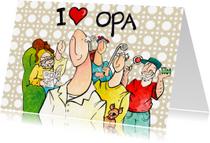 Opa & Omadag kaarten - I love opa