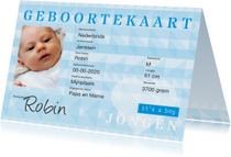 Geboortekaartjes - identiteitskaart geboorte jongen