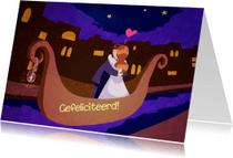 Felicitatiekaarten - In het huwelijksbootje