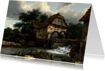 Kunstkaarten - Jacob van Ruisdael.  Landschap met watermolens