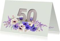 Jubileumkaarten - Jubileum anemonen 50 jaar