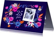 Jubileumkaarten - Jubileum bloemenkrans