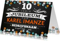 Jubileumkaarten - jubileum medewerker krijt krijtbord