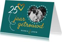Jubileumkaarten - Jubileum uitnodiging hip en stijlvol met eigen foto en goud