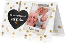 Jubileumkaarten - jubileumkaart hout trouwen