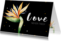 Kaartje: Love never fails