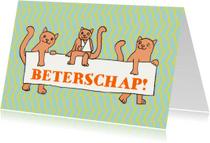 Beterschapskaarten - katten met bord