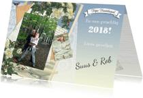 Nieuwjaarskaarten - Kendiekaart Edelweiss Foto 2018