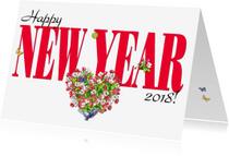 Nieuwjaarskaarten - KendieKaart-NY 2018-Blossom