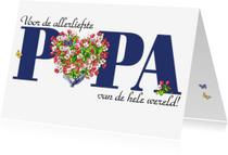 Vaderdag kaarten - KendieKaart-Vaderdag-Bl. Hearts