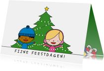 Kerstkaarten - Kerst Boom versieren