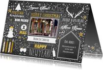 Kerst feestelijke typografische verhuiskaart krijtbord