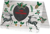 Kerstkaarten - Kerst herten hart