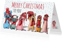 Kerstkaarten - kerst-merry christmas-KK