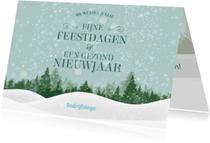 Zakelijke kerstkaarten - Kerst nieuwjaarskaart zakelijk sneeuw ME
