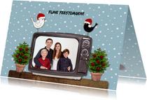 Kerstkaarten - Kerst Televisie Blauw - HR