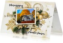 Kerstkaarten - Kerst verhuiskaart 2 in 1 traditioneel - SG