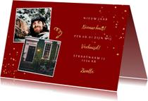 Kerst-verhuiskaart met spetters en foto's