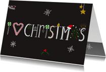 Kerstkaarten - Kerstkaart CliniClowns I love Christmas