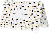 Kerstkaart confetti met goudlook