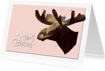 Kerstkaarten - Kerstkaart eland geometrisch