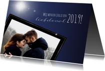 Kerstkaarten -  Kerstkaart foto met gouden randje. 2019