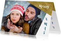 Kerstkaarten - Kerstkaart grafisch achtergond inkleurbaar 2019 - OT
