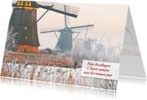 Kerstkaarten - Kerstkaart Kinderdijk Winter