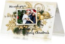 Zakelijke kerstkaarten - Kerstkaart klassieke kerstsfeer