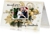 Kerstkaart klassieke kerstsfeer