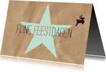 Kerstkaarten - kerstkaart Kraft Fijne Feestdagen 17005