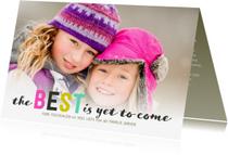 Nieuwjaarskaarten - Kerstkaart letters en sneeuw