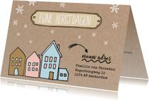 Kerstkaarten - Kerstkaart met adres wijziging