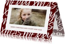 Kerstkaarten - Kerstkaart met handgeschreven tekst en foto