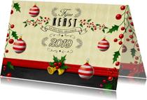 Kerstkaarten - Kerstkaart met kersttakjes - DS