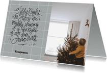 Kerstkaarten - Kerstkaart ruitjes tekst