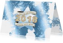 Zakelijke kerstkaarten - Kerstkaart ster ijs 2018 RB