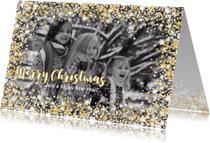 Kerstkaarten - Kerstkaart stijlvol met foto,  sterren en twinkelingen