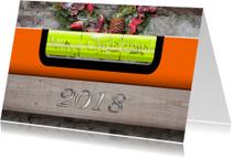 Zakelijke kerstkaarten - Kerstkaart waterpas 2018 RB